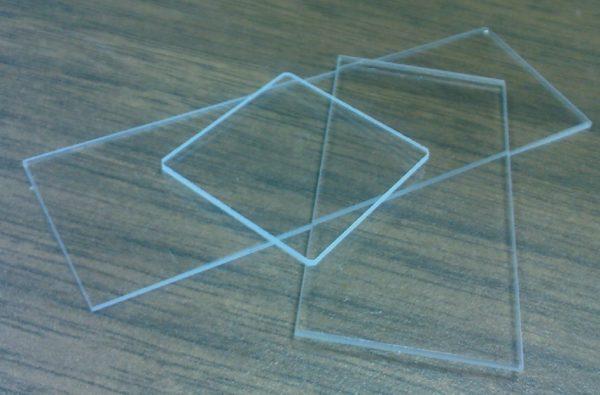 "1"" x 1"" x 1mm Quartz Microscope Slide"