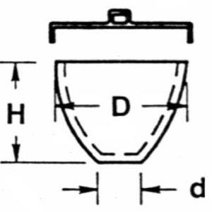 Low Form Quartz Crucibles with Cover