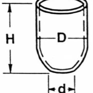 Tall Form Quartz Crucibles (No Cover)