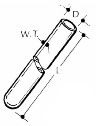 Quartz Micro Combustion Tubes (One End Closed)