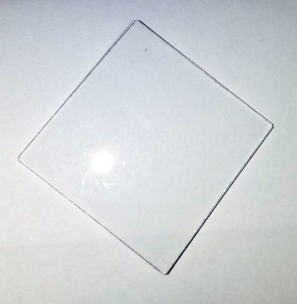 """Quartz  Plate 1.5"""" x1.5"""" x  1/8"""""""