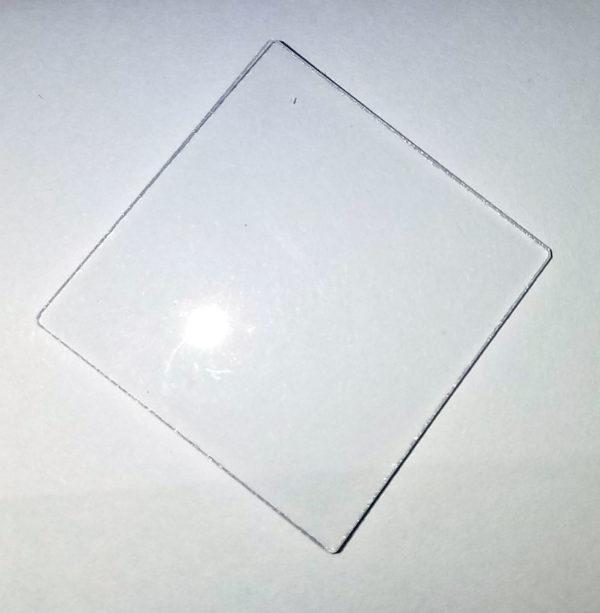 """Quartz  Plate  1.75"""" x 1.75"""" x 1/16"""""""
