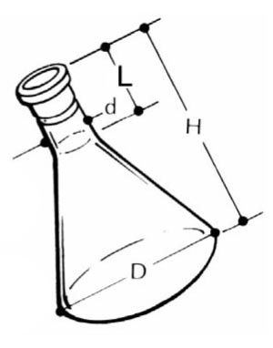 Quartz Erlenmyer Flask with Joint 24/40F 300cc