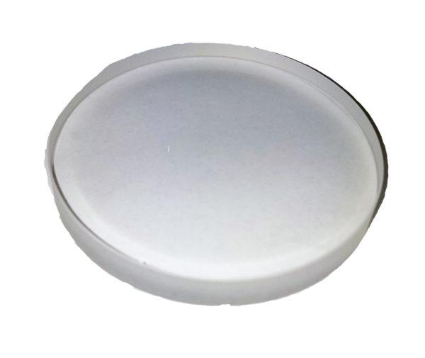 "Quartz Disc 2.5"" Dia x 1/4"" Thick"