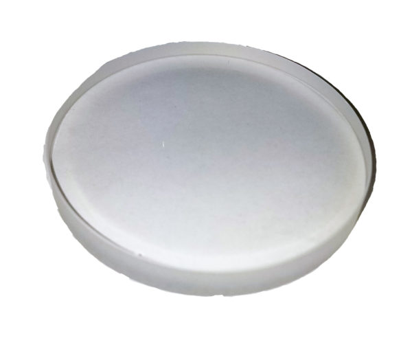 "Quartz Disc 3.5"" Dia x 1/4"" Thick"