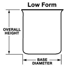 Quartz Beakers (Low Form, Griffen Type no pour out)