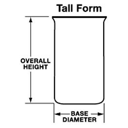 Quartz Beakers (Tall form, Bezelius Type no pour out)