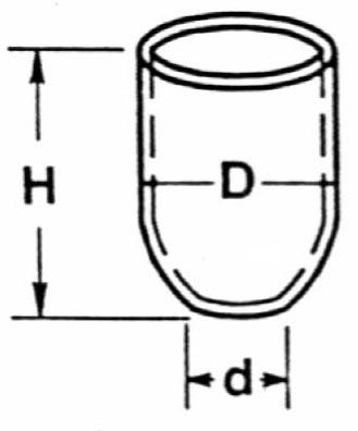 Tall Form Crucibles (no Lid) 15cc