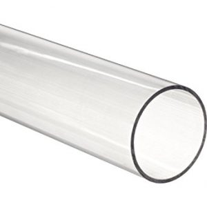"Clear Fused Quartz Tubing 5mm ID  7.25mm OD  48"" L"