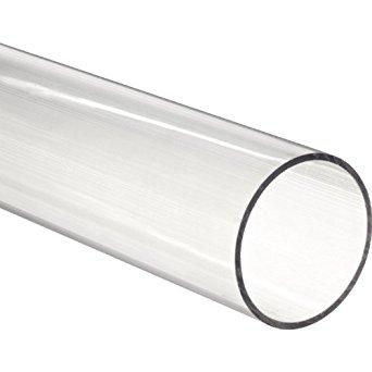 """Clear Fused Quartz Tubing 60mm ID  64mm ID  48"""" L"""
